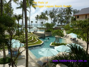 The pools at Outrigger Laguna beach Resort