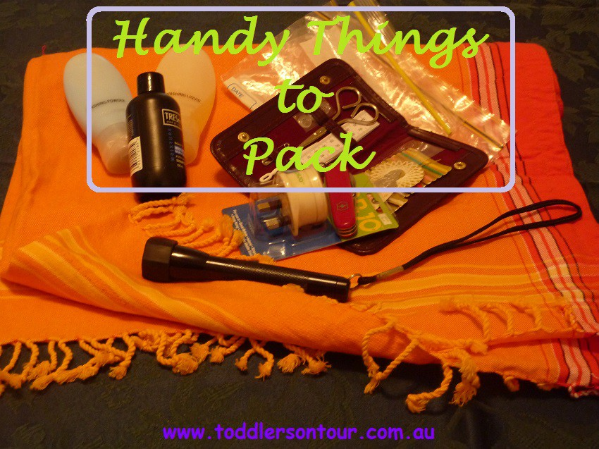 Handy Things To Pack When Travelling Toddlers On Tour